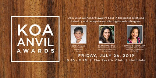 Koa Anvil Awards 2019