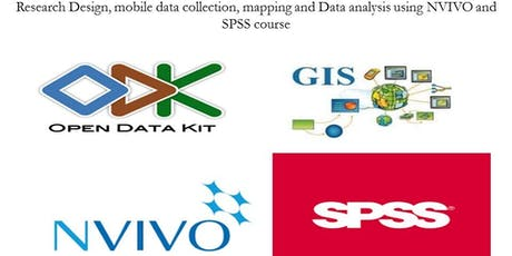 Research Design,Data collection and Analysis using ODK,GIS,NVIVO SPSS tickets