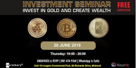 Midrand Free Investment Seminar tickets