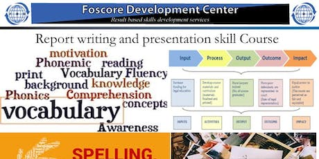 Report writing and presentation skill Course tickets