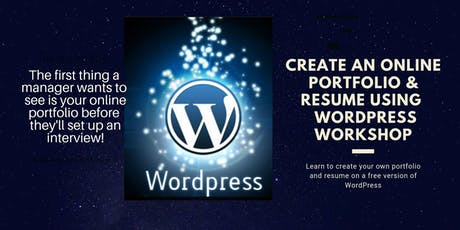 Create an Online Portfolio and Resume Using WordPress Workshop tickets