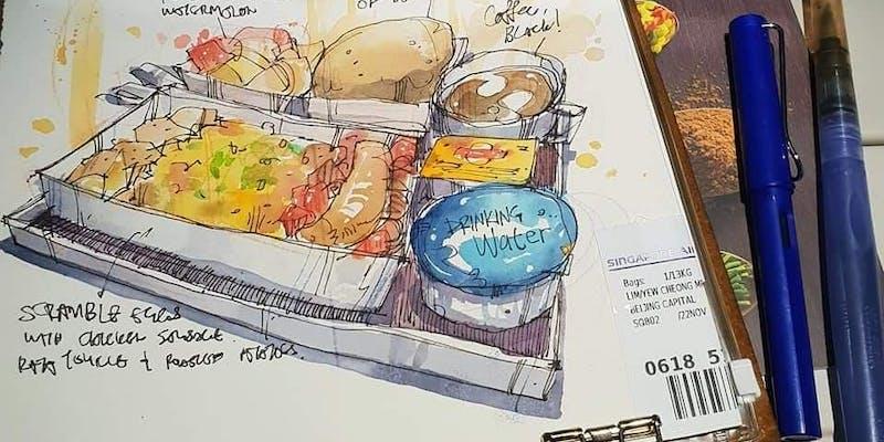 TN Jamming - Urban Sketching by James Lim