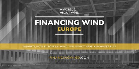 Financing Wind Europe 2019 tickets