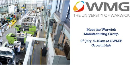 Meet the Warwick Manufacturing Group tickets