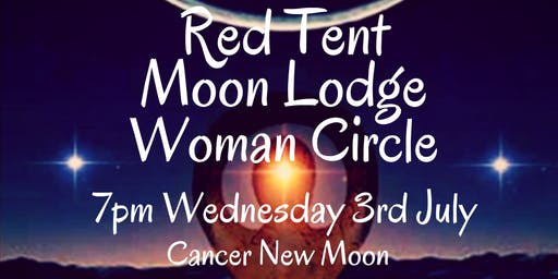 July Red Tent Moon Lodge Woman Circle