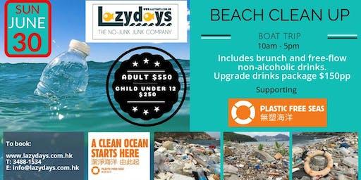 Lazydays Beach Clean Up