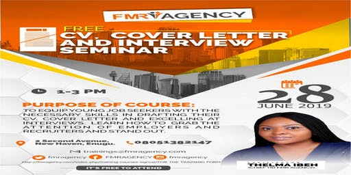 CV, COVER LETTER AND INTERVIEW SEMINAR