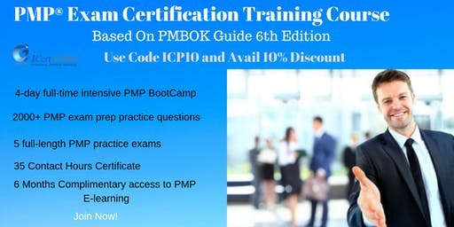 PMP Exam Prep Training and Certification in Seattle, WA, USA | Use Code ICP10 For Flat 10% Discount On The Course Price | 4-Day (PMP) Training Boot Camp in Seattle, WA, From June 25th-28th 2019