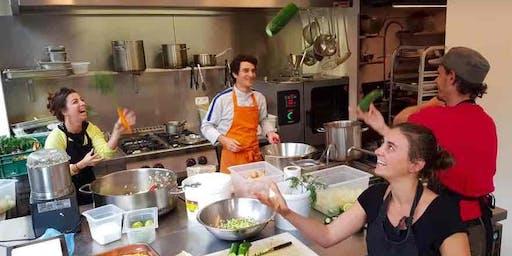 Atelier de cuisine immersive au Champ du Chaudron : jeunes pousses