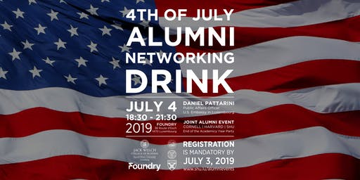 4TH OF JULY ALUMNI NETWORKING DRINK