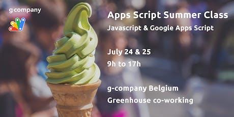 Apps Script Summer Class tickets