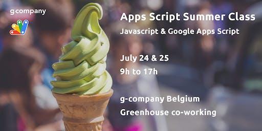 Apps Script Summer Class