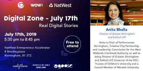 Digital Zone - Anita Bhalla - Real Digital Stories tickets