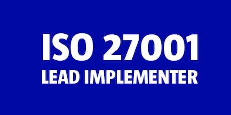 ISO 27001 Lead Implementer bilhetes