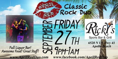 April Red is Back to ROCK Ricky's at Apollo Beach!