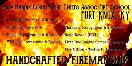 Hardin County Fire Chiefs Association Fire School tickets