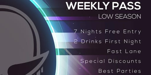 Disco Tropics Weekly Pass (Low Season)
