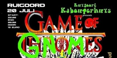 Game of Gnomes, another kabouterhouseparty in Ruigoord KERK