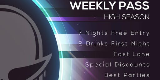 Disco Tropics Weekly Pass (High Season)