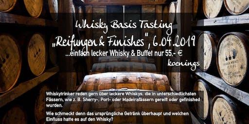 Whiskytasting - Fassreifungen und Finishes