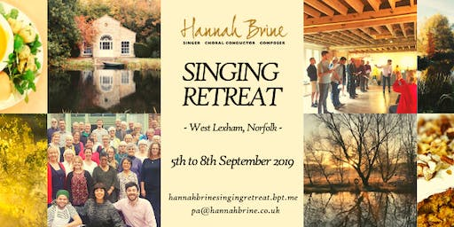 Singing Retreat 2019 with Hannah Brine