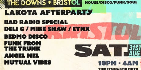 The Downs Bristol: Official Afterparty tickets