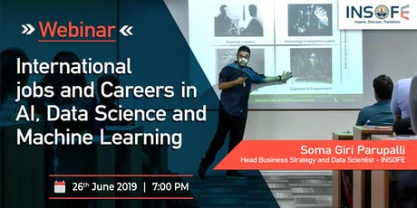 International Jobs and careers in AI, Data Science and Machine Learning tickets