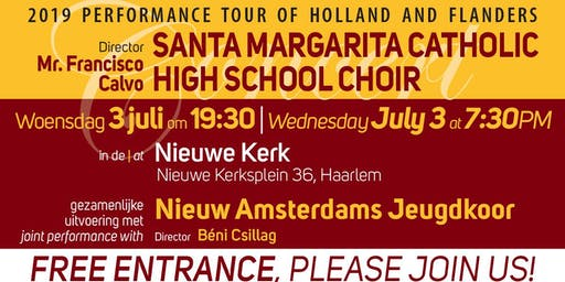 Haarlem, free choral concert by Nieuw Vocaal Amsterdam and SMCHSC!