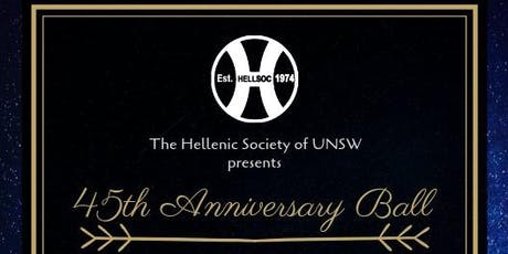 The Hellenic Society of UNSW - 45th Anniversary Ball tickets