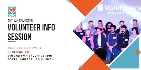 ReDI Munich Volunteer Info Session Autumn Semester  tickets