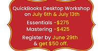 2019 - QuickBooks Desktop Hands-On Workshop Toronto | Mississauga - July 6th and July 13th 2019