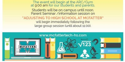 William T. McFatter Technical High School's New Student Orientation 2019