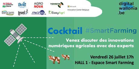 Cocktail Smart Farming Digital Wallonia Foire de Libramont 2019 billets
