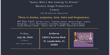 Murder Mystery:  Guess Who's Not Coming To Dinner: Stage Play tickets