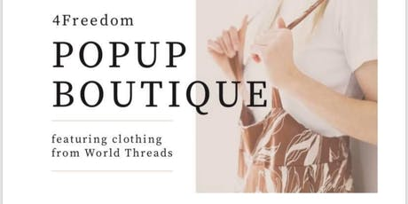 OneVOICE4Freedom POPUP BOUTIQUE tickets