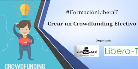 #FormaciónLieraT  : Crear un Crowdfunding Efectivo tickets