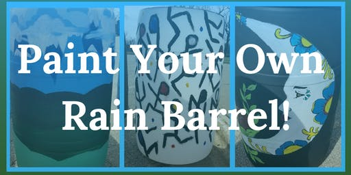 Paint Your Own Rain Barrel!