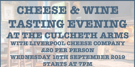 Cheese & Wine Tasting Evening tickets
