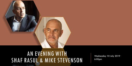 NK2 Events: An evening with Shaf Rasul & Mike Stevenson tickets