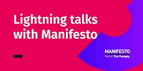 Lightning talks with Manifesto: The Future Charity tickets