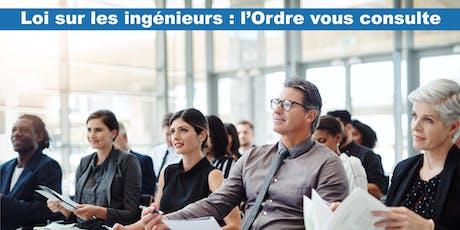 Consultation des membres – Loi sur les ingénieurs (Québec) billets