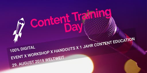 Content Training Day 2019