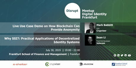 Disrupt Meetup | Anonymity Ensured by Blockchain Technology Tickets