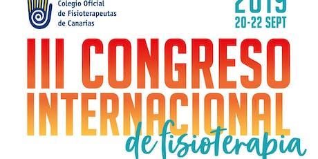 III Congreso Internacional de Fisioterapia entradas