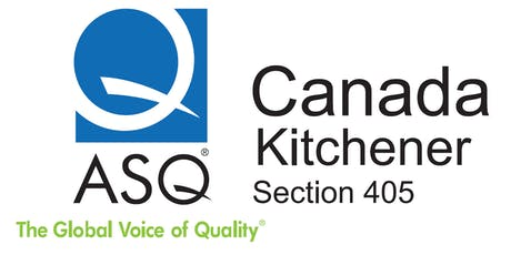 ASQ Kitchener Training - DOE Concepts and Practice- Sept 14 tickets