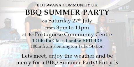 Botswana Community UK - BBQ Summer Party 27 July 2019 tickets