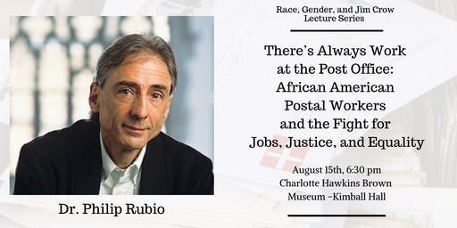 Race, Gender, and Jim Crow Lecture Series- Dr. Rubio