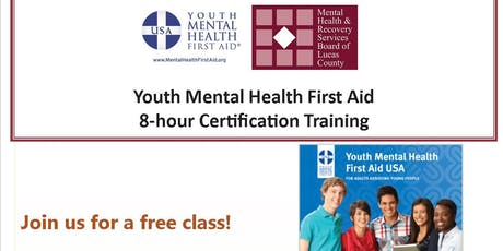 YOUTH Mental Health First Aid - August 22, 2019  tickets