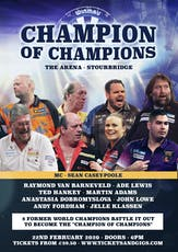 Champion of Champions - Darts - Stourbridge tickets