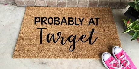 DIY Home Decor: Stenciled Welcome Mats tickets